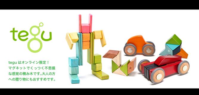 木のおもちゃ 磁石の積み木 tegu